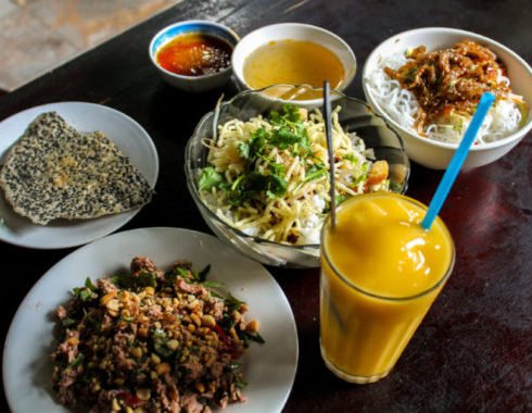 Selection of Hue vegetarian food