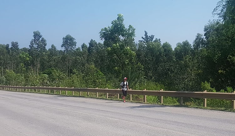 Highway running in Vietnam