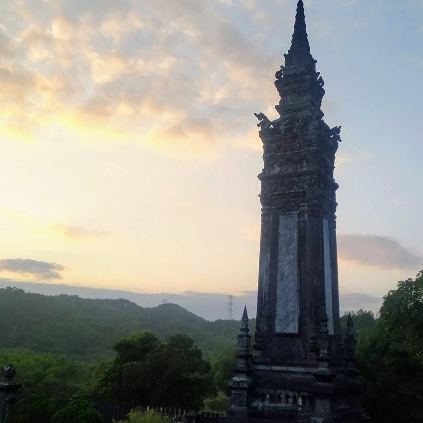 obelisk at Khai Dinh Tomb